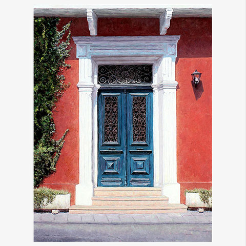 A Cyprus Blue Door painting by Theo Michael