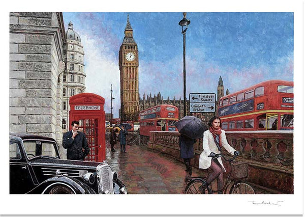 Big Ben Fine Art Print, after an oil painting by Theo Michael