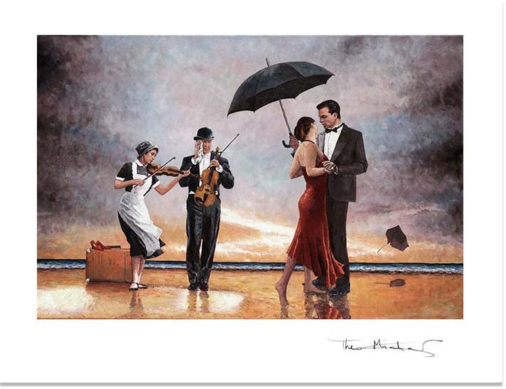 Fine Art Print Singing Butler, an oil painting by Theo Michael