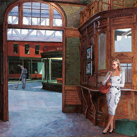 Wall art by Theo Michael, Homage to Edward Hopper
