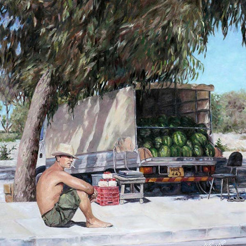 Mediterranean paintings by Theo Michael, The Melon Seller