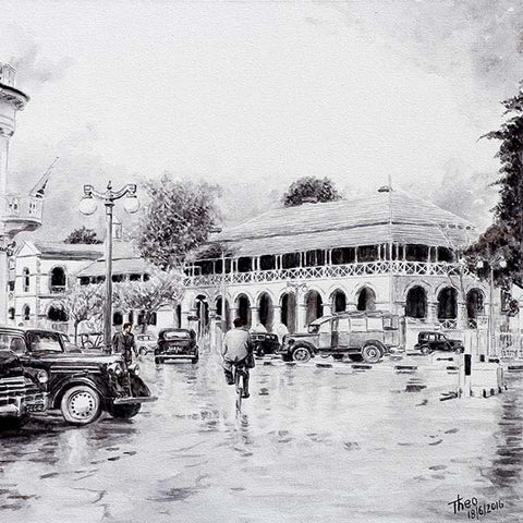 painting by Theo Michael, Ataturk Square Nicosia