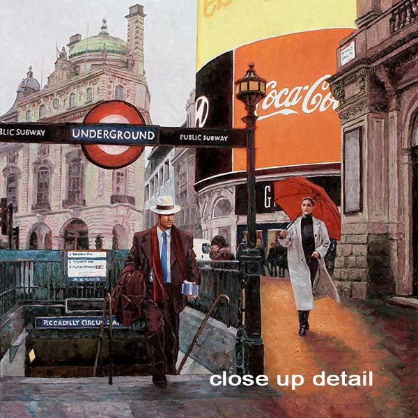 Canvas print, London Piccadilly Circus, an oil painting by Theo Michael