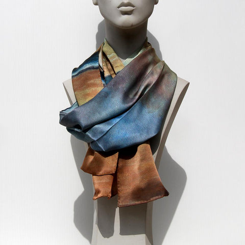 100% silk scarf with an original art design by Theo Michael, Homage To The Singing Butler