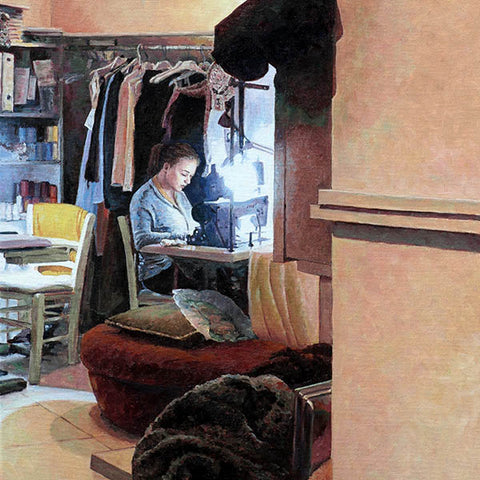 Limited Edition fine art print, The Seamstress by Theo Michael