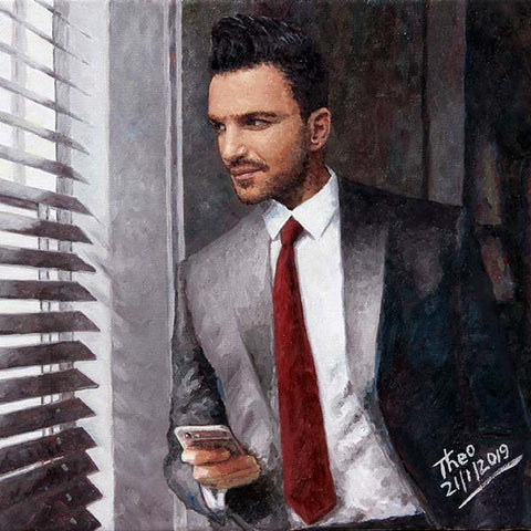 Peter Andre fine art print by Theo Michael, The Waiting Game