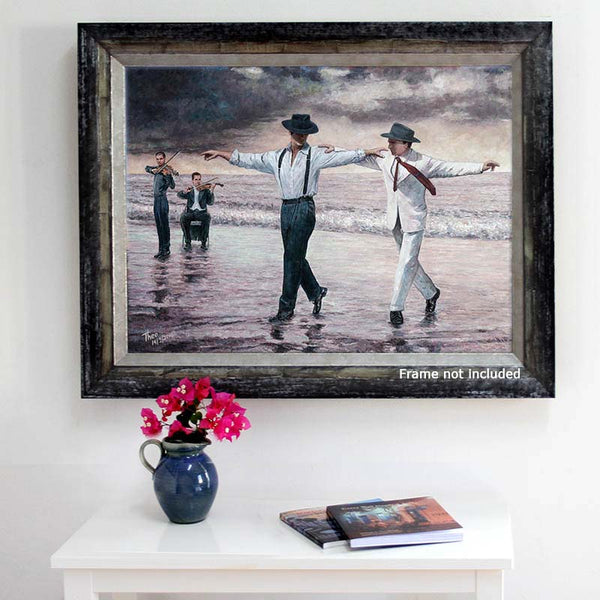 Zorba The Greek inspired painting, The Beach Quartet by Theo Michael