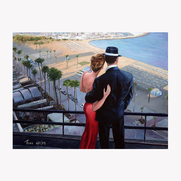 Romantic paintings by Theo Michael, Balcony With A View