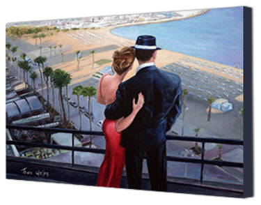 Romantic Canvas print, Balcony With A View by Theo Michael