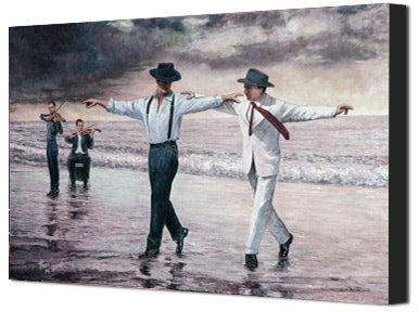 Zorba The Greek inspired canvas print, The Beach Quartet by Theo Michael