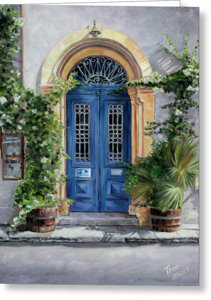 Greeting Cards By Theo Michael, The Blue Door