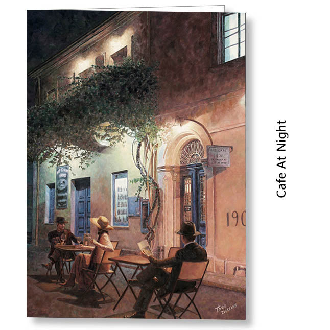 Greeting Card, Art Cafe 1900 Larnaca Cyprus