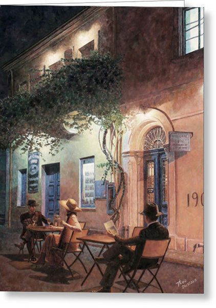 Greeting Cards By Theo Michael, Cafe At Night