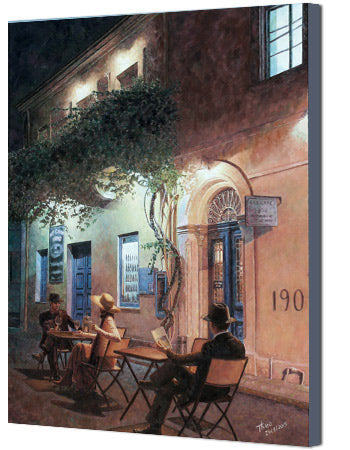 Van Gogh inspired canvas print, Cafe At Night by Theo Michael