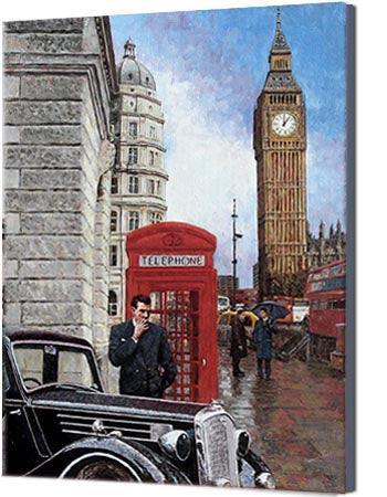 Canvas print of Big Ben, a London oil painting by Theo Michael