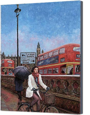 Canvas Print, Westminster of London an iconic street scene