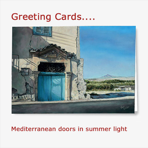 Buy the Mediterranean Doors greeting card set from Art by Theo Michael