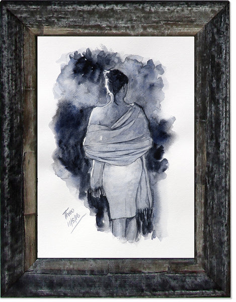 The Lady With Shawl, limited edition giclee fine art print