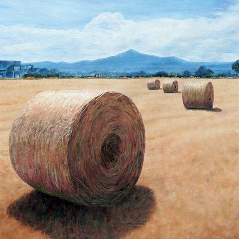 Mediterranean Wall art by Theo Michael, Haystacks in Cyprus