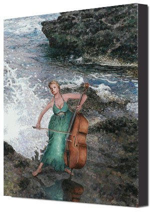 Mediterranean Canvas print by Theo Michael, Making Music