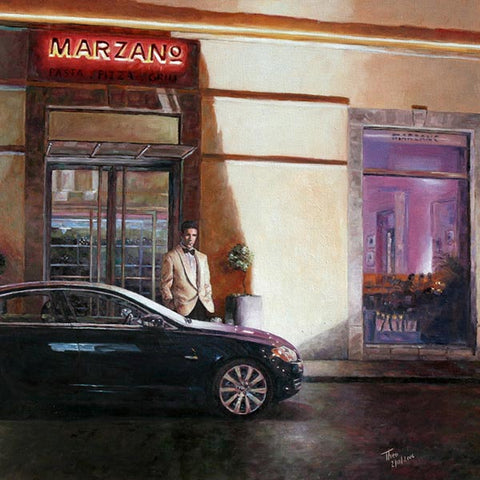 Art Noir Wall Art by Theo Michael, Marzano Restaurant Larnaca