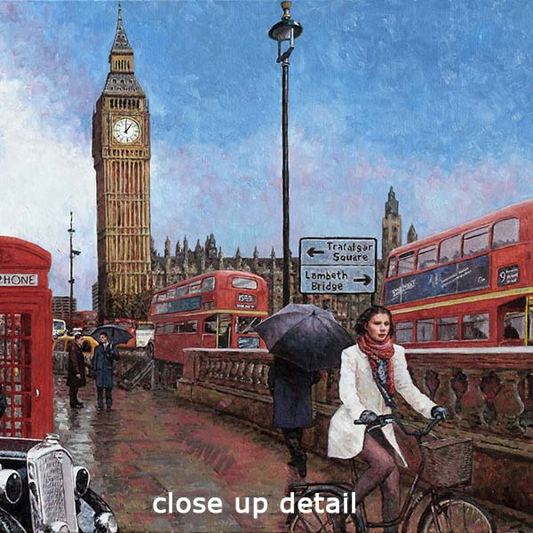 Big Ben oil painting, an iconic London painting by Theo Michael