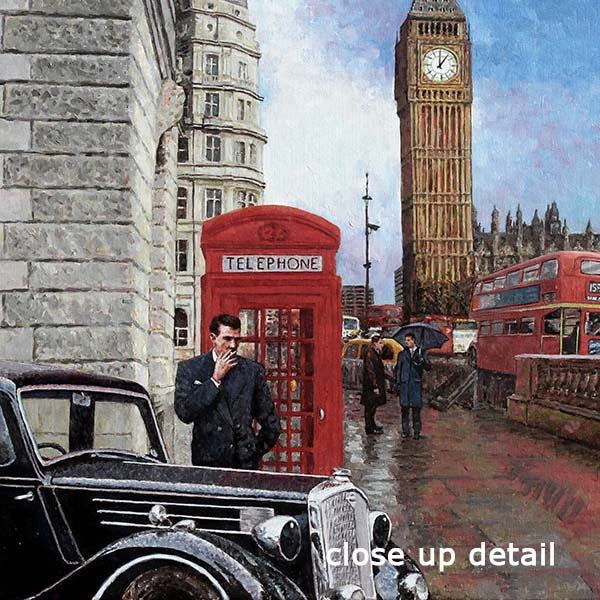 London painting of Big Ben by Theo Michael