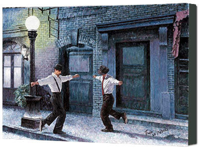 canvas print by Theo Michael, Dancing In The Rain