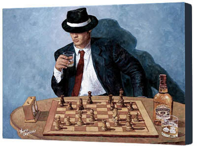 canvas print Make Your Move, a chess painting by Theo Michael