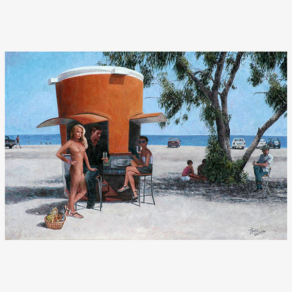 Mediterranean Wall art by Theo Michael, The Picnic Basket