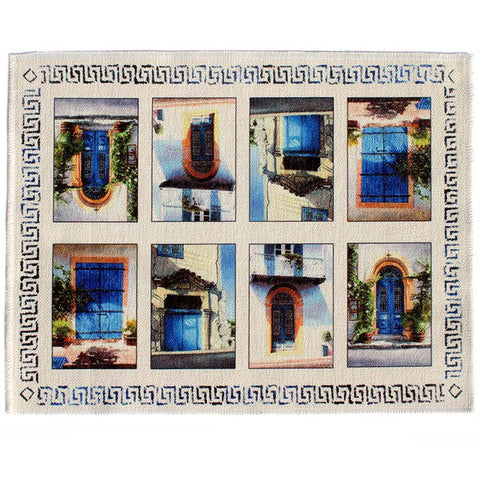 Place mat, Blue Door Collection a Mediterranean art design by Theo Michael