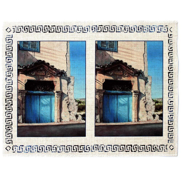 Place mat Mediterranean design of Village Blue Door
