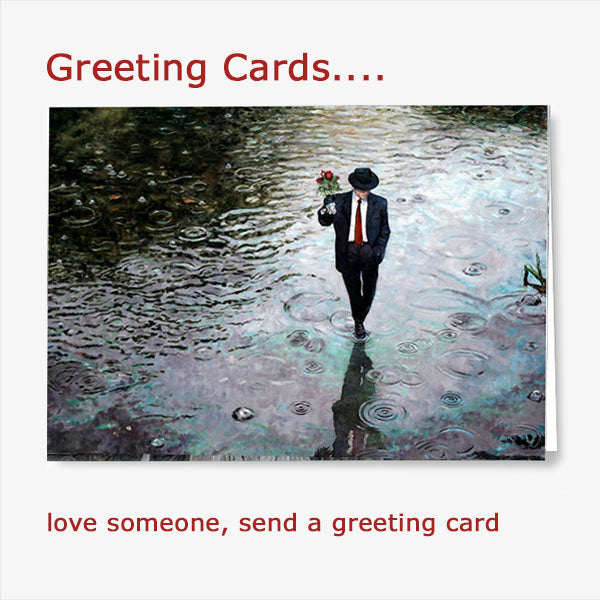 Buy a romantic greeting card set from Art by Theo Michael