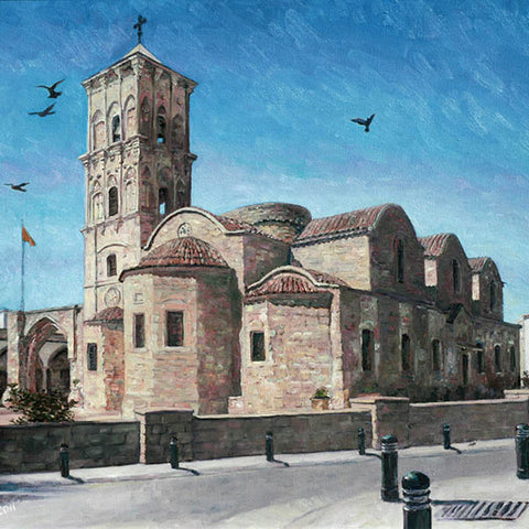 Oil painting by Theo Michael, St Lazarus Church in Larnaca, Cyprus
