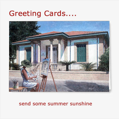 buy Greeting Cards with Mediterranean images by Theo Michael