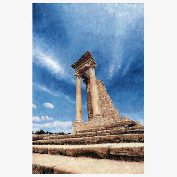 Mediterranean Wall Art by Theo Michael, Temple Of Apollo Kourion Cyprus