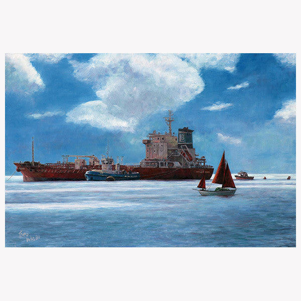 Mediterranean Wall art by Theo Michael, The Tanker
