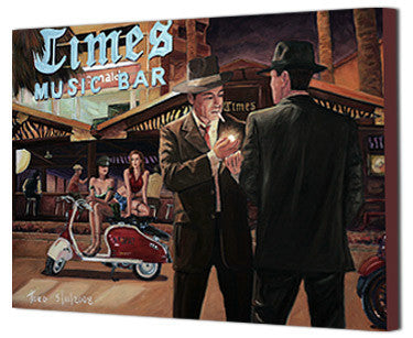 Art Noir Canvas Prints by Theo Michael, Times Music Bar