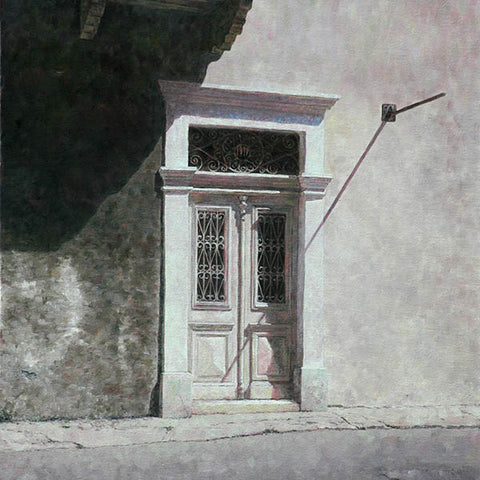 Mediterranean White Door painting by Theo Michael in Larnaca