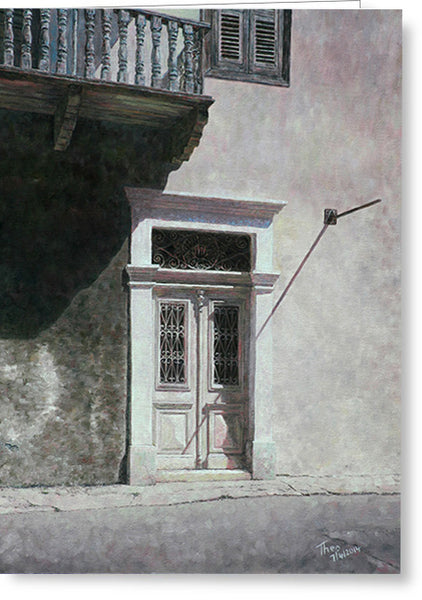 Greeting Cards By Theo Michael, Cyprus White Door