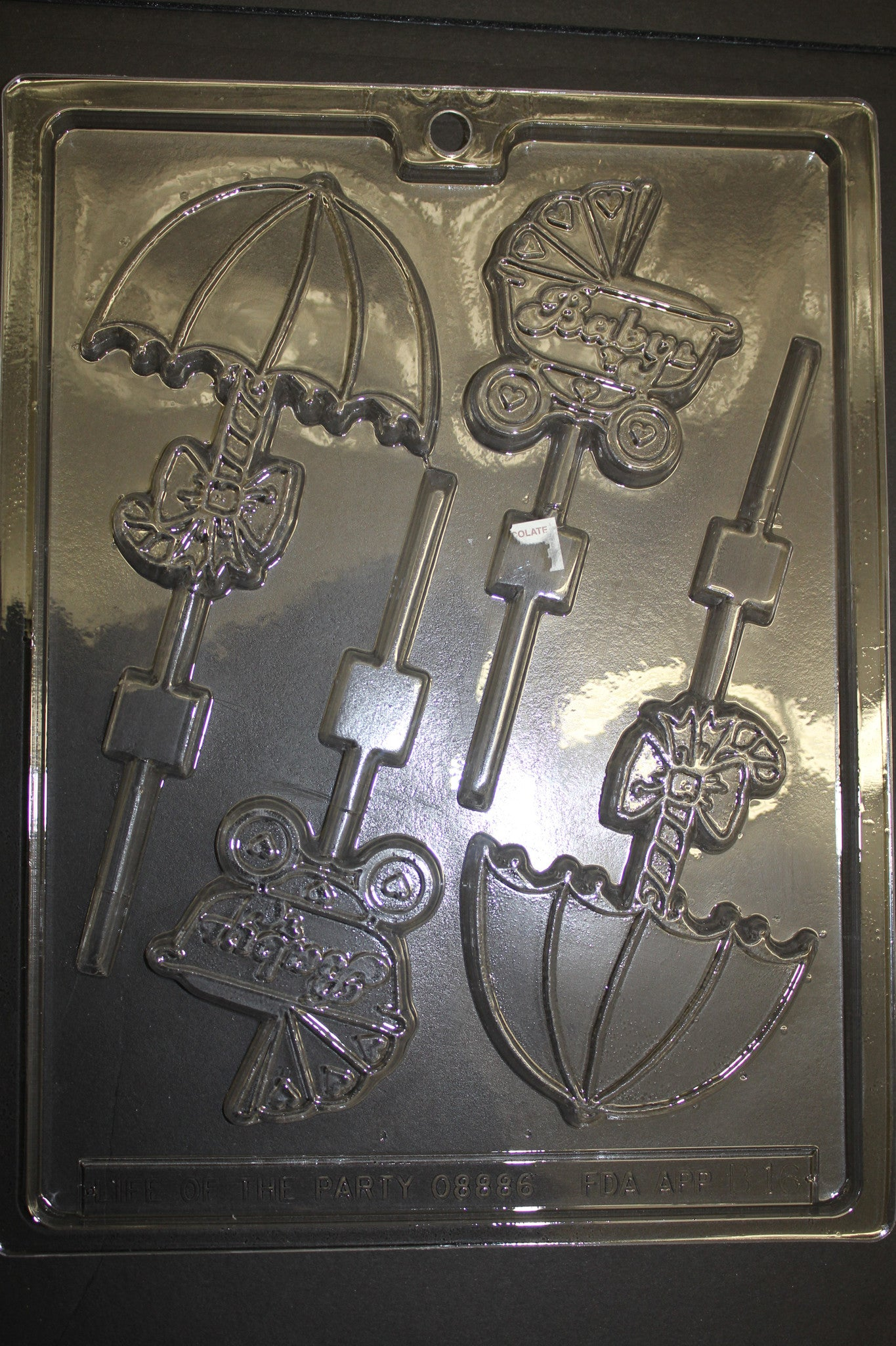 Baby Pop Stroller and Umbrella Chocolate Mold