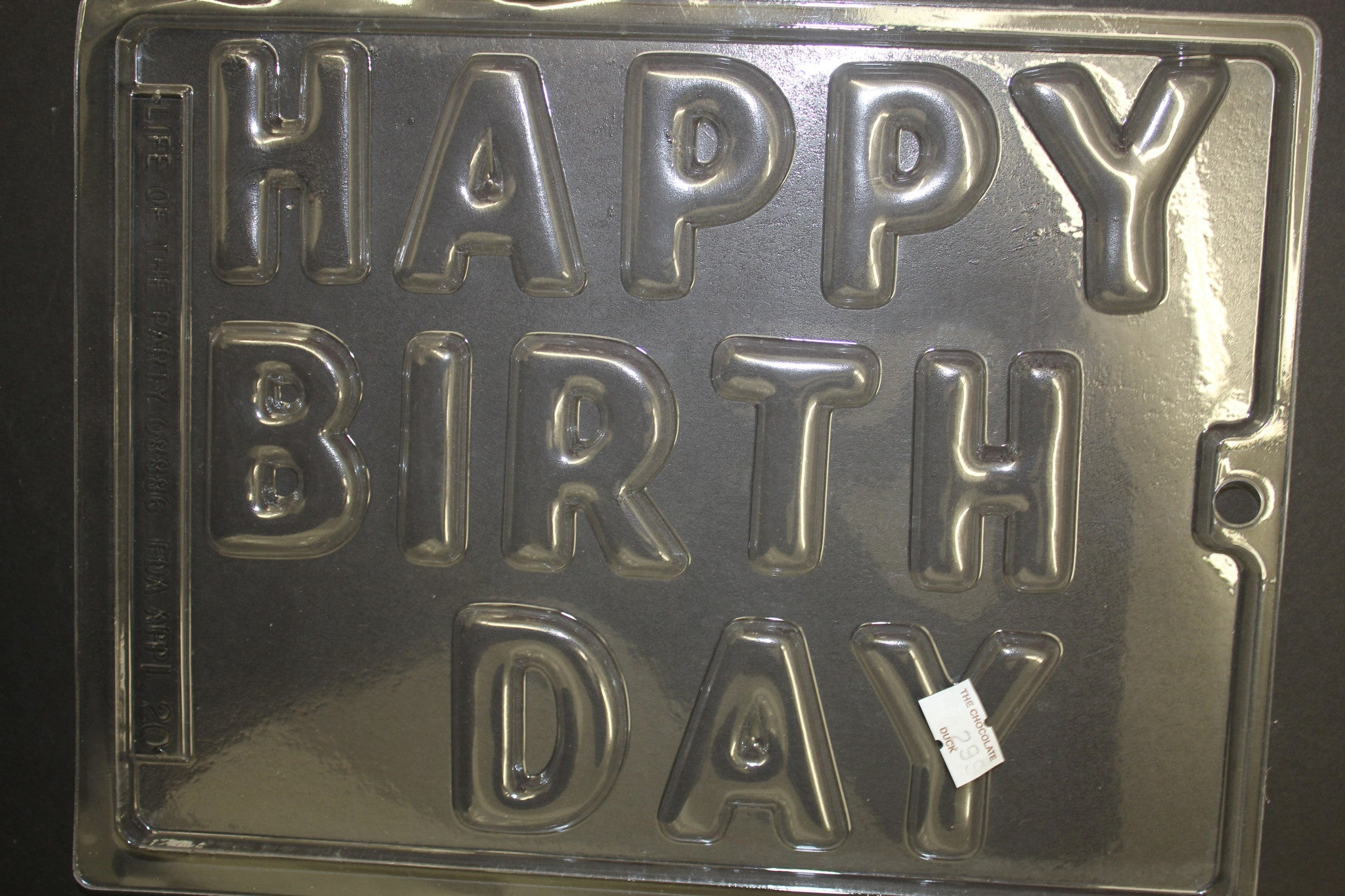 Happy Birthday SPELT OUT LARGE LETTERS Candy Chocolate Mold