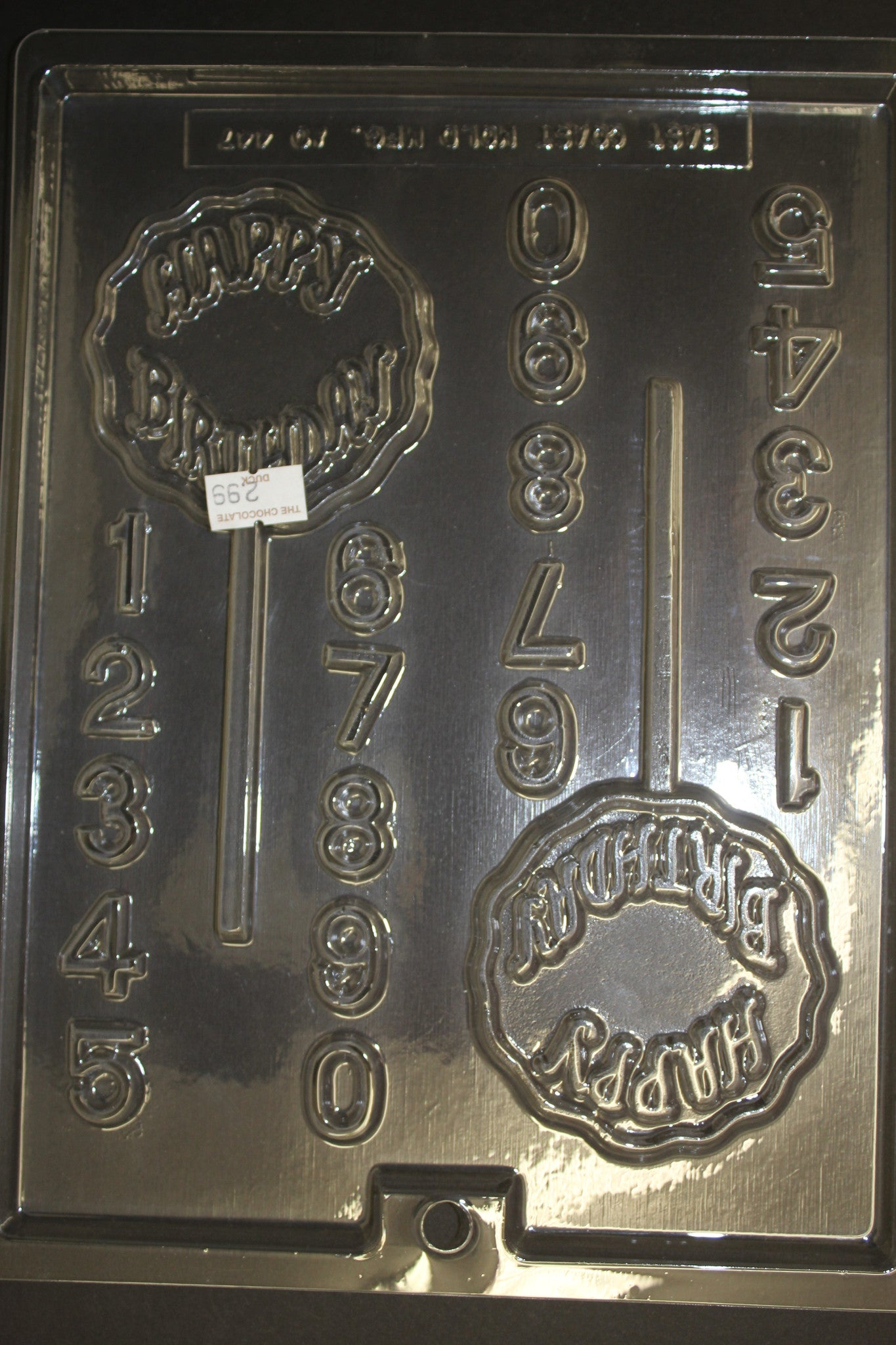 2 Happy Birthday Flower Pops with Numbers 0-9 Candy Pop Chocolate Mold