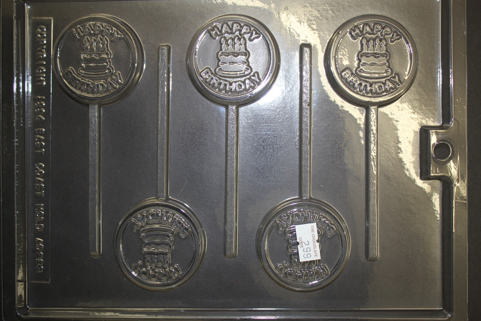 5 Happy Birthday Cakes on Round Pop Candy Chocolate Mold