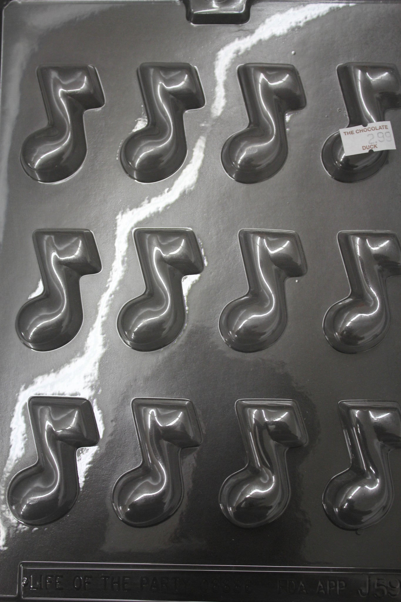 1 Dozen Music Note Nuggets Candy Chocolate Mold
