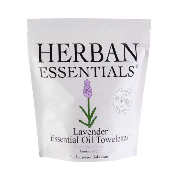 Herban Essentials Essential Oil Towelettes - Lavender