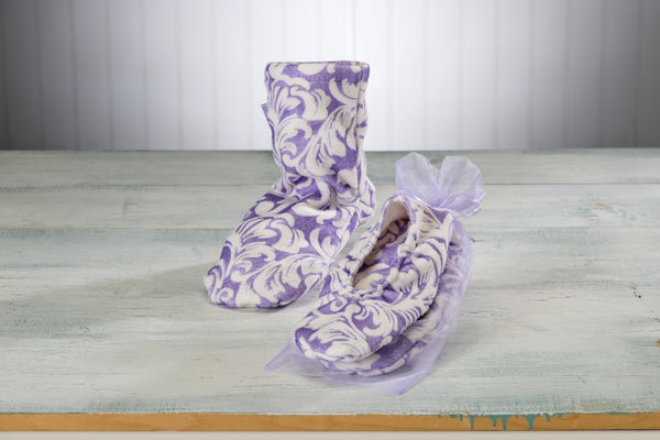 Lilac Fleur Heated Mittens