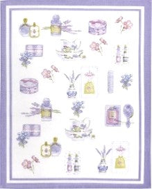 European Tea Towel - Lavender Bath w Lavender Border