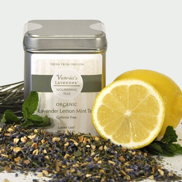 Victoria's Lavender - Organic Herbal Tea – Lavender Lemon-Mint, Loose Leaf