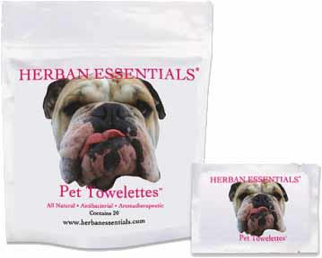 Herban Essentials Essential Oil Towelettes - Pet Towelettes